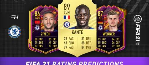 Jogadores com cartas mais altas no 'FIFA 21'. (Arquivo Blasting News)