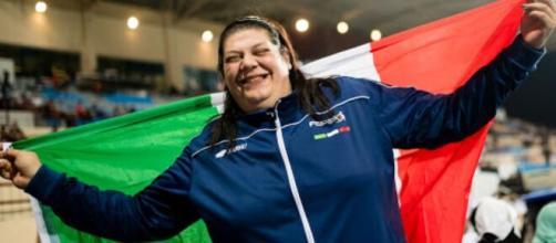 Atletica paralimpica, la pluricampionessa Assunta Legnante.