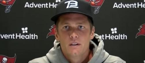 Brady passed for 239 yards and two touchdowns with two interceptions. [Image Source: Tampa Bay Buccaneers/YouTube]
