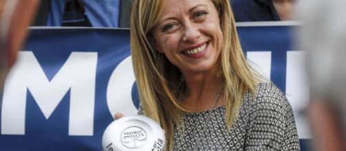 Giorgia Meloni contro Chiara Ferragni e Fedez - foto di rainews.it.