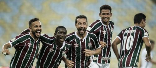 Nenê fez dois gols para o Tricolor e liderou sua equipe durante o confronto. (Arquivo Blasting News)