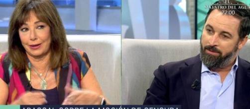 Ana Rosa Quintana entrevista a Santiago Abascal