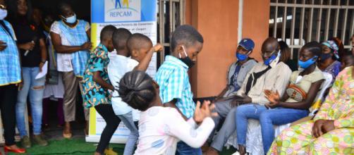 Cérémonie de remise de fournitures scolaires par le REPCAM ce 11 septembre 2020 à Yaoundé (c) REPCAM