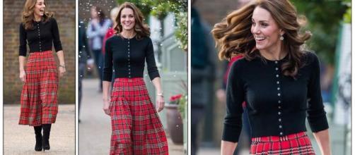 Kate Middleton tiene el look perfecto para las fiestas de Navidad con su falda escocesa