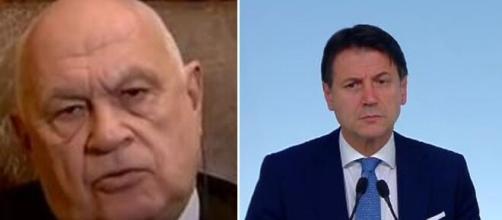 L'ex magistrato Carlo Nordio e Giuseppe Conte.