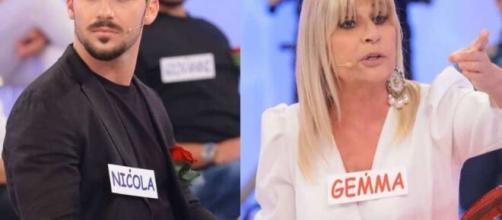 Uomini e donne, scontro Nicola-Gemma, lui sbotta: 'Sei una grandissima falsa'.