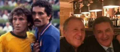 Zico e Gentile, avversari sul campo quasi 40 anni fa e grandi amici oggi.
