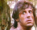 John Rambo nel primo film della fortunata saga cinematografica - foto di pinterest.com.