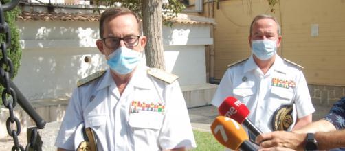 El almirante Martorell, jefe de la flota, expone los problemas que para la Armada ha supuesto el Coronavirus