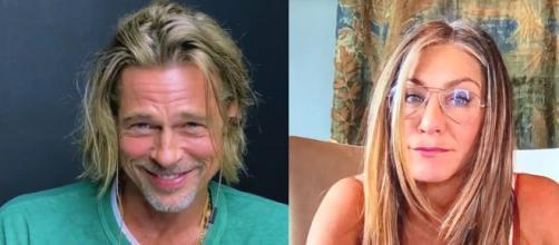 "Con el cariñoso saludo ""¡Hola Aniston!"" comenzaba este esperadísimo reencuentro entre Brad Pitt y Jennifer Aniston"