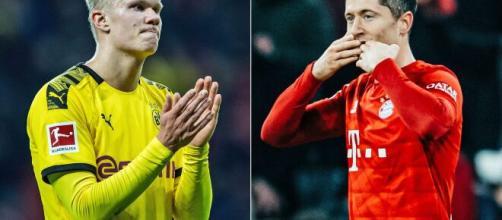 Erling Haaland e Robert Lewandowski estão entre os principais nomes da atual temporada. (Arquivo Blasting News)