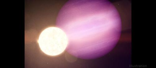 Planeta orbitando alrededor de una enana blanca
