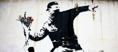 Il graffite del quale Bansky ha perso i diritti d'autore.