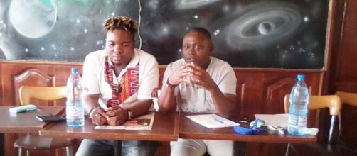 L'artiste camerounais BB SAKIS et le communicateur Ericien Pascal ce 16 septembre 2020 (c) Odile Pahai