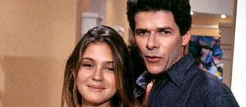 Adriana Esteves e José Mayer estiveram no elenco de 'Meu Bem, Meu Mal' (1990). (Reprodução/TV Globo)
