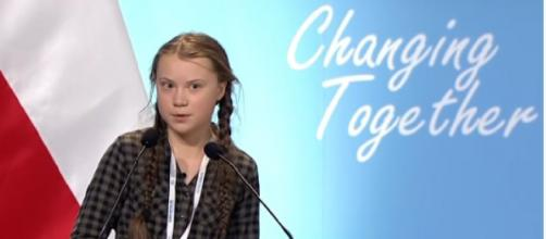 Greta Thunberg full speech at UN Climate Change COP24 Conference. [Image source/Connect4Clkimate YouTube video]