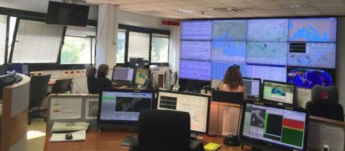Una foto della sede Ingv sui terremoti.