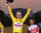 Il podio finale del Tour de France 2020