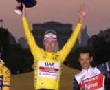 Il podio finale del Tour de France 2020