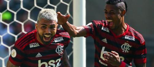 Artilheiros em 2019, Gabigol e Bruno Henrique deverão desfalcar o Flamengo. (Arquivo Blasting News)
