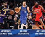 Antetokounpo, Davis, Doncic, Harden e LeBron foram eleitos os melhores jogadores do primeiro escalão da NBA 2019-2020. (Arquivo Blasting News)