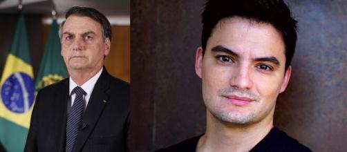 Bolsonaro e Felipe Neto estão na lista dos 100 mais influentes do mundo. (Arquivo Blasting News)