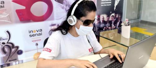 O Senai abre cursos online inclusivos para pessoas com deficiência. (Divulgação/Senai)