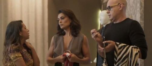 Carol e Dorinha irão discutir sobre a adoção em 'Totalmente Demais'. (Reprodução/TV Globo).