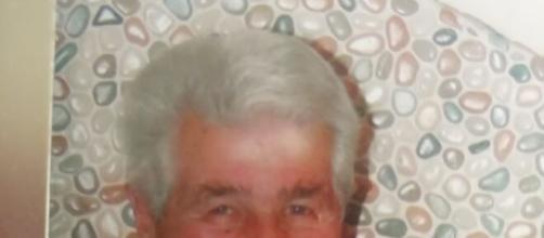 Un'immagine di Sestino Zicarelli, 86 anni, scomparso ieri dall'Ospedale Annunziata di Cosenza, in Calabria.