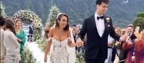 Elettra Lamborghini e Afrojack sposi a Ossuccio sul Lago di Como.
