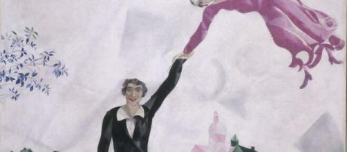 'La Passeggiata' di Marc Chagall in esposizione a Rovigo.