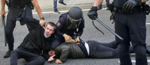 Manifestantes durante la manifestación de Vallecas
