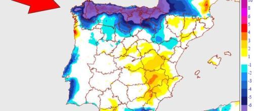 AEMET informa sobre la llegada de una DANA o depresión y afirma que generará inestabilidad climática. Fuente de la imagen: El Español.