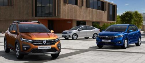 Le nuove Dacia Sandero, Sandero Stepway e Logan.