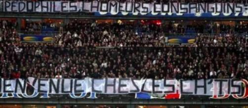 Les pires banderoles des ultras de football - Photo capture d'écran Facebook