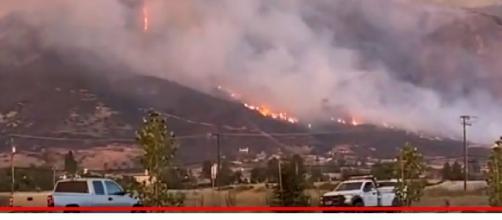 California wildfire in El Dorado September 2020. [Image source/LawDogg97 YouTube video]