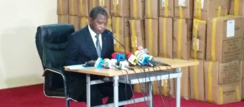 Le Ministre de l'Administration Territoriale du Cameroun, Paul Atanga Nji ce 07 septembre 2020 (c) Odile Pahai