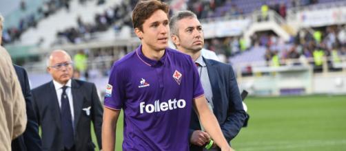 L'Inter 'molla' Chiesa della Fiorentina.