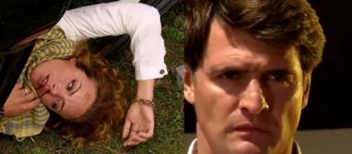 Renata sofre grave acidente. (Reprodução/Televisa)