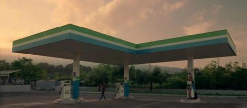 Una delle immagini del cortometraggio di Olga Torrico 'Gas Station'.