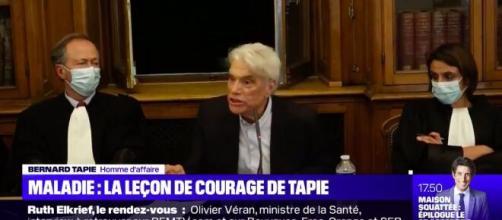 La leçon de courage de Bernard Tapie face à la maladie, source : capture - Twitter @BFMTV