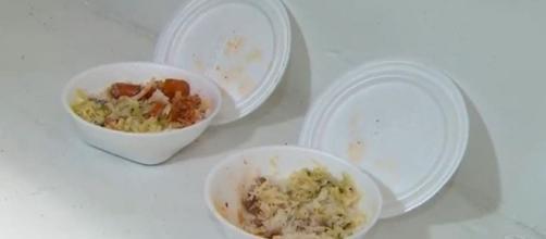 Pai pede que filho envenenado ao comer marmita seja transferido de hospital. (Reprodução/Record TV)