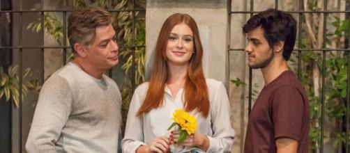 Ricaço sofre ao flagrar Eliza e Jonatas juntos. (Arquivo Blasting News)
