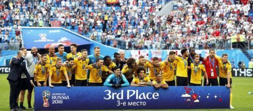 Terceira colocada na Copa do Mundo em 2018, a seleção da Bélgica contou com muitos craques no elenco. (Arquivo Blasting News)