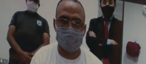 Fábio Júnior Alves de Andrade (PP) toma posse em cerimônia por videoconferência (Reprodução/TV Paraíba)