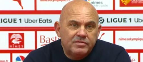 Frédéric Antonetti dézingue l'arbitre de Metz / Nice - Photo capture d'écran Vidéo Youtube