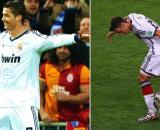'Le meilleur de tous les pays', Ozil relance le débat entre CR7 et Messi. Montage photo