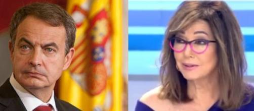 Ana Rosa le da un tremendo 'zasca' al expresidente del Gobierno, José Luis Rodriguez Zapatero