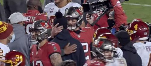 Brady talks to Smith after the game (©Tampa Bay Buccaneers/YouTube)