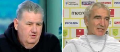 Pierre Menès vole au secours de Raymond Domenech - Photo capture d'écran vidéo Twitter canal football club